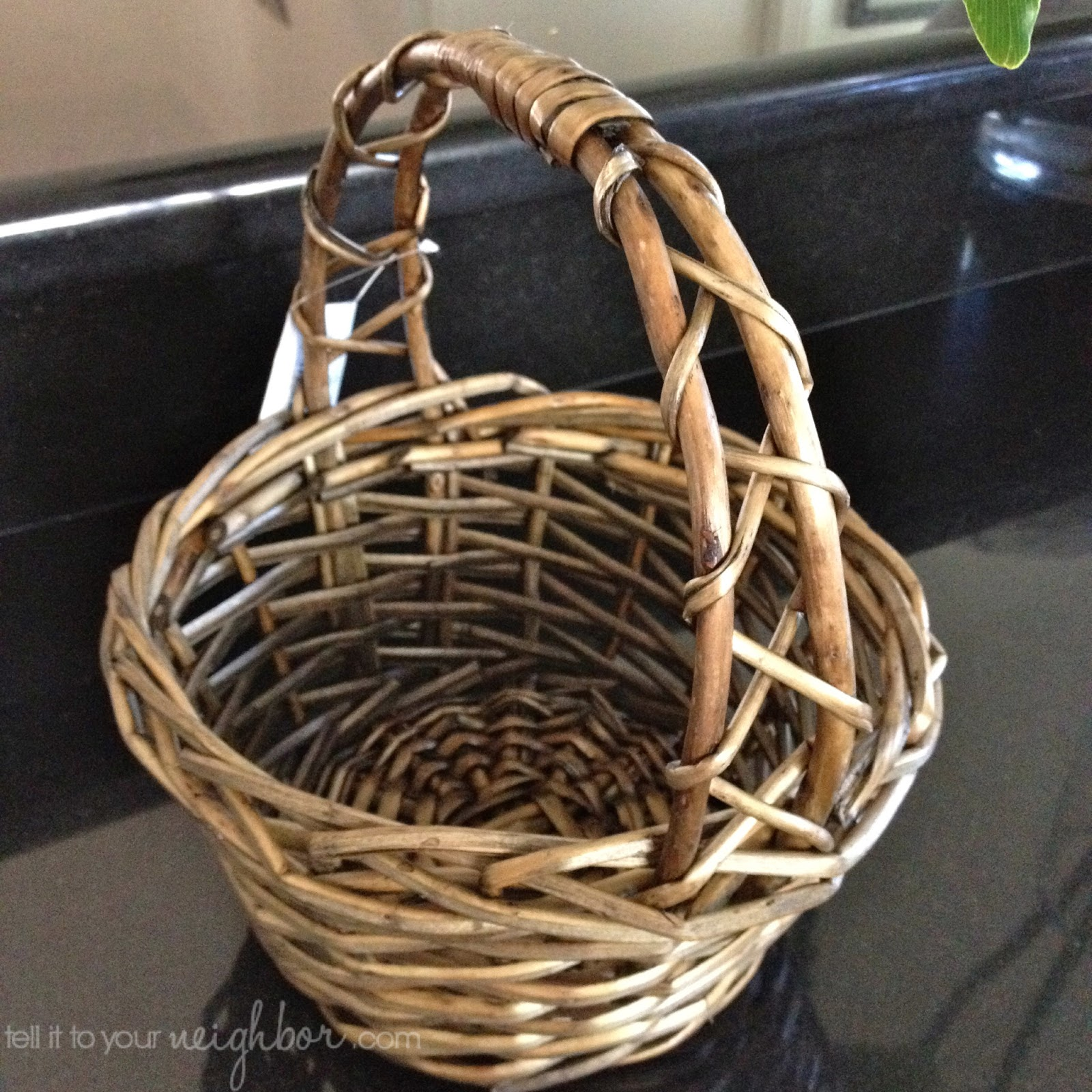 Tell it to your neighbor an easter basket for the years find a basket from a craft store with an open weave like this one from michaels negle Image collections
