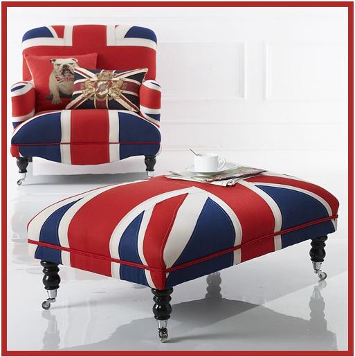 Union jack accessories on pinterest union jack union for Royal chair designs