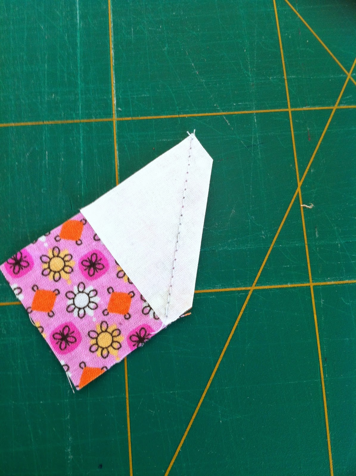 Patchwork blok flying geese maken