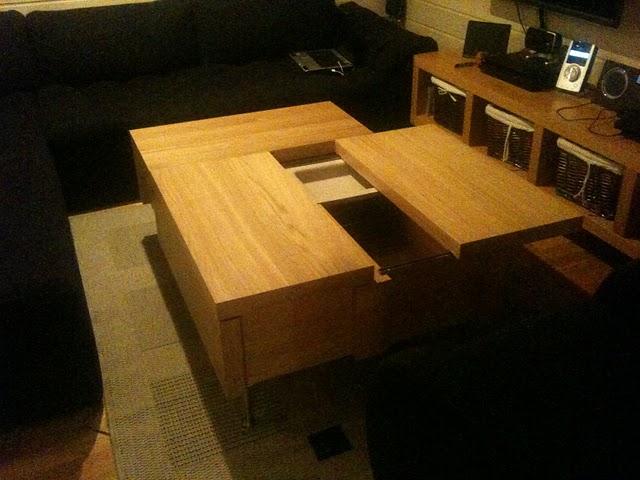Ikea hack mesa de centro con 3 almacenajes malm - Ikea mesa malm ...