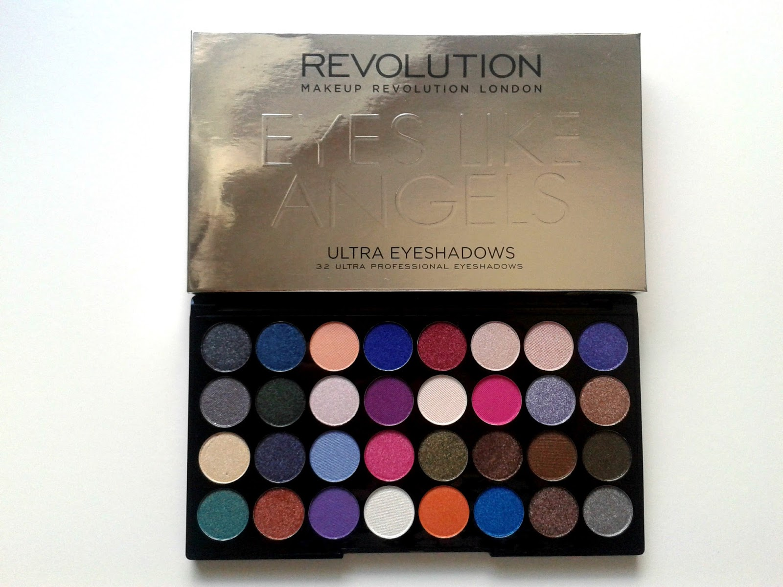 Makeup Revolution Eyes Like Angels Ultra 32 Shade Eyeshadow Palette Beauty Review