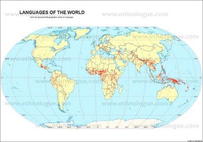 mappa lingue del mondo
