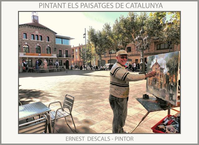SANTA MARIA DE PALAUTORDERA-PINTURA-MONTSENY-POBLES-PAISATGES-PINTURES-FOTOS-ARTISTA-PINTOR-ERNEST DESCALS-