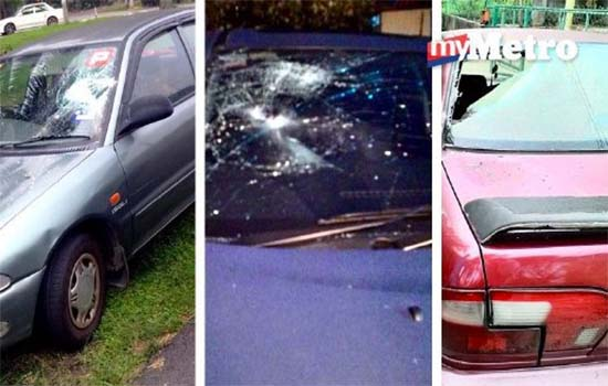 Remaja mabuk pecah cermin 11 kereta di Kampung Melayu Sungai Lui