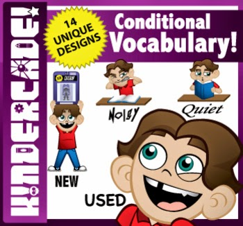 http://www.teacherspayteachers.com/Product/Kindercade-Conditional-Vocabulary-Clipart-1154892