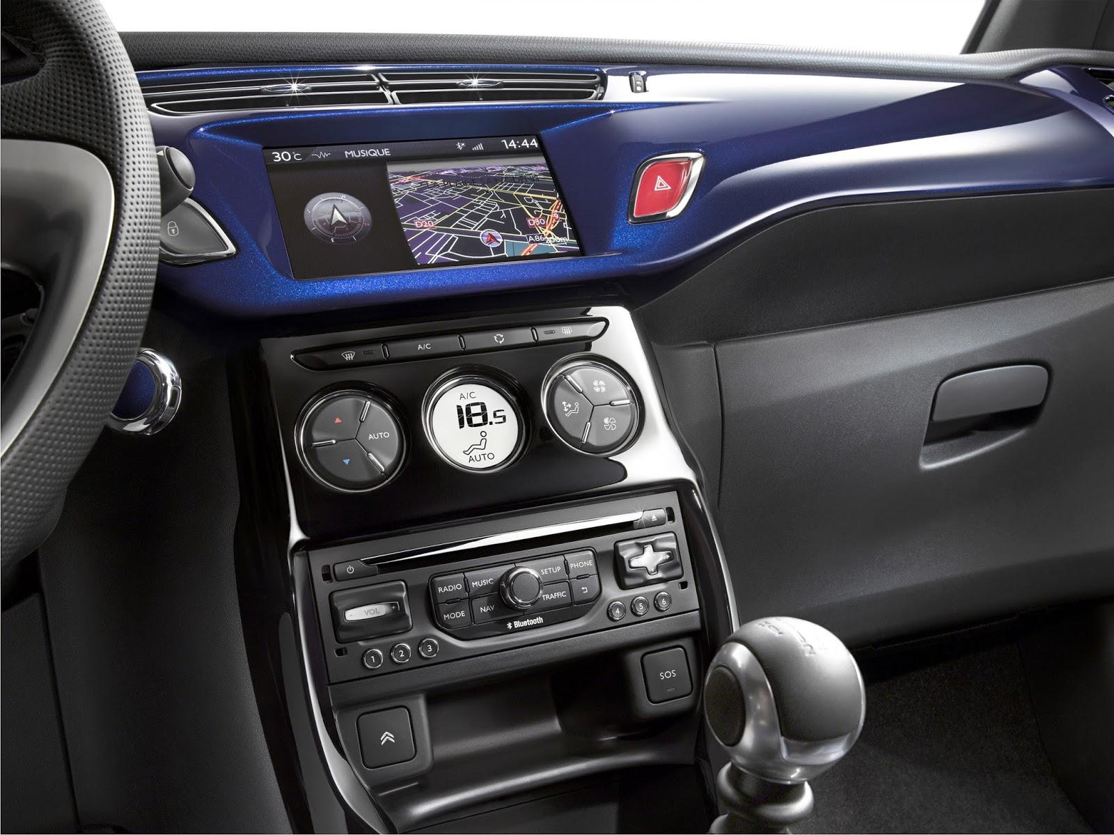 novo Citroën DS3 2014 interior