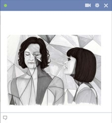 Gotye feat. Kimbra drawing for facebook chat