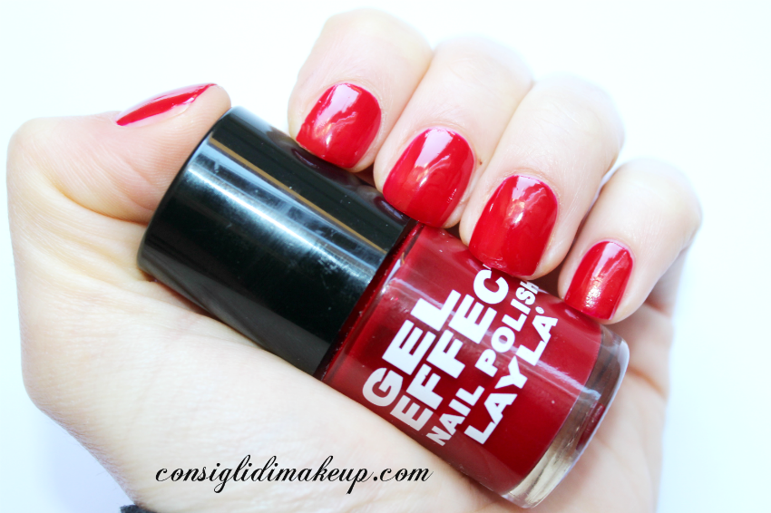 NOTD: Gel Effect Nail Polish 06 Power Red - Layla