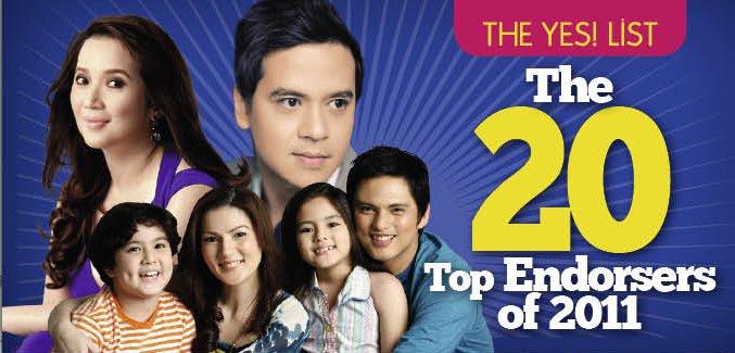 Top filipino celebrity endorsers