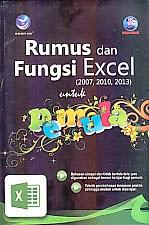 toko buku rahma: buku RUMUS & FUNGSI EXCEL (2007, 2010, 2013) UNTUK PEMULA     , pengarang madcoms, penerbit andi