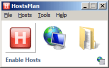Using Hostsman for Host Redirection