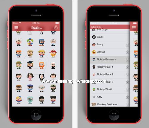Nuevos emoticones y Stickers con ChatMate for WhatsApp