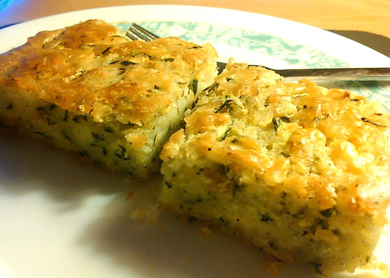 Orion's Ramblings: Crustless Zucchini and Feta Quiche Thingy