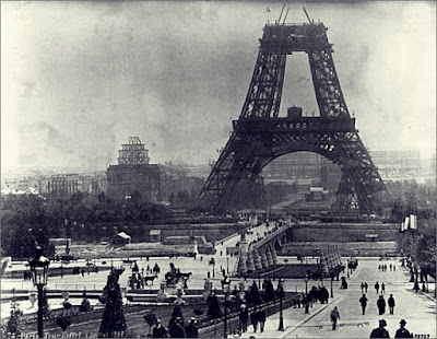 Eiffel Tower 1888 under construction