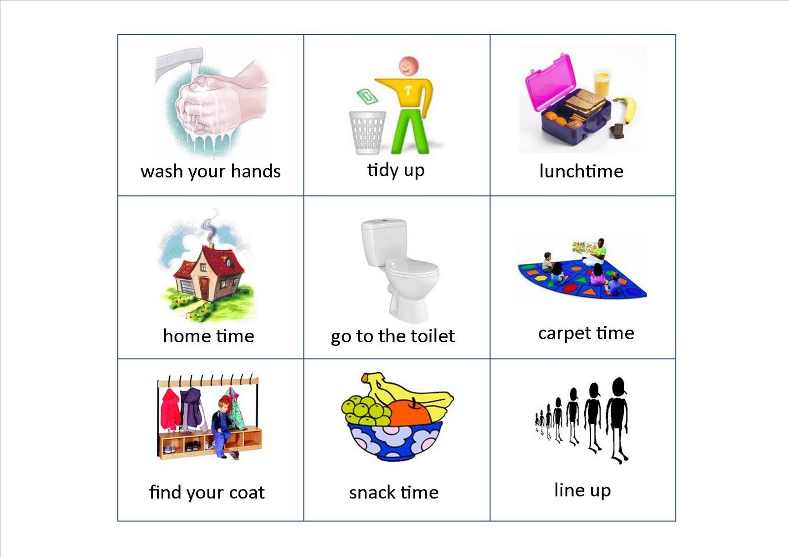 Key time flash cards