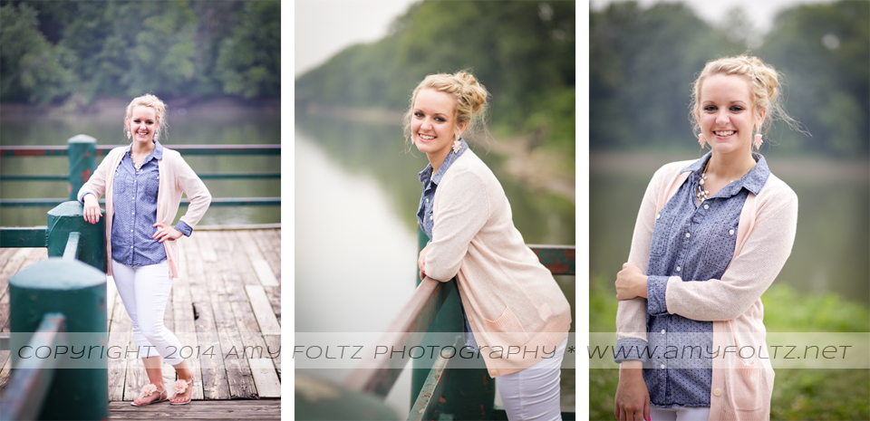 senior photos at Fairbanks park in Terre Haute, Indiana