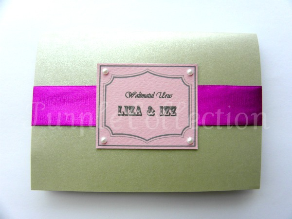 Grey Wedding Invitation Card, wedding invitation cards, malay wedding cards, grey card, handmade card, wedding