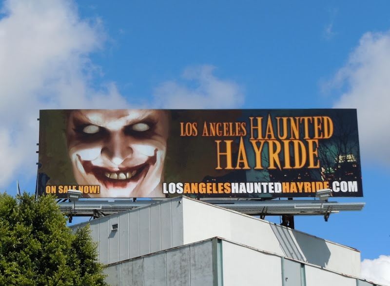 Haunted Hayride Halloween billboard