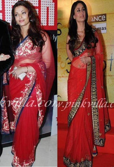 bollybreak_com_akar1 -  Aishwarya Rai Kareena Kapoor in Same Red Saree