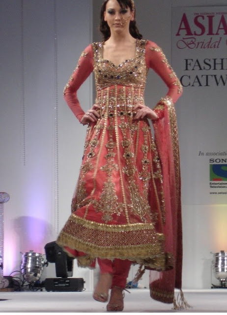 Pakistani Churidar Pajama with Anarkali Frok