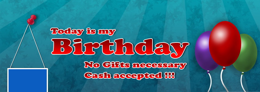 No Gifts Necessary Cash Accepted