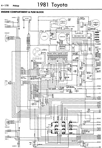 repair manuals toyota pickup 1981 wiring diagrams rh repair manuals blogspot com 1984 Toyota Pickup Wiring Diagram 81 toyota pickup alternator wiring diagram