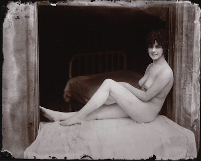 Ernest J.bellocq -.(seated nude in windowsill)