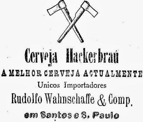 Propaganda da Cerveja Hackerbrau, em 1891.