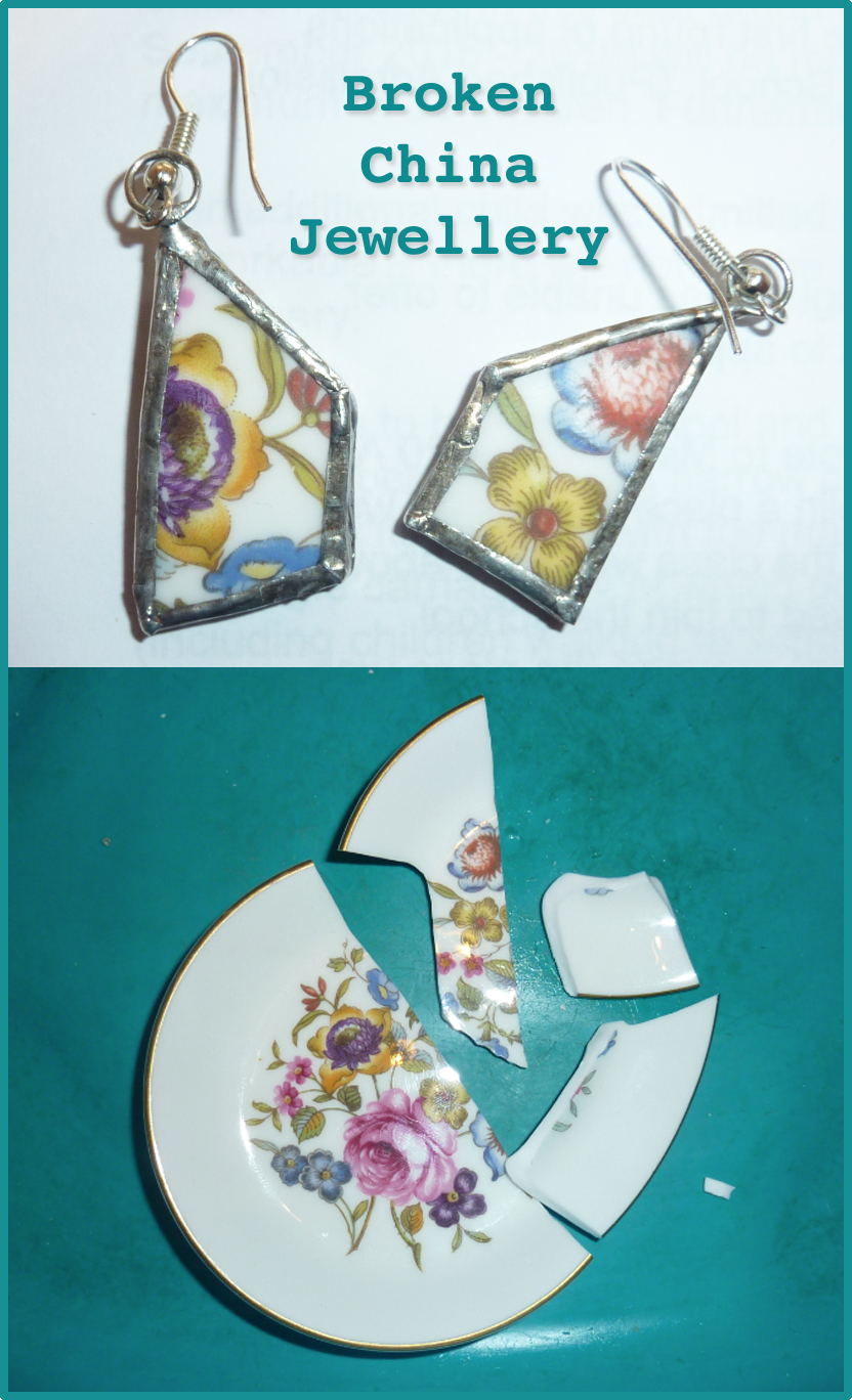 jovial spondoodles smashed plate earrings jewellery from