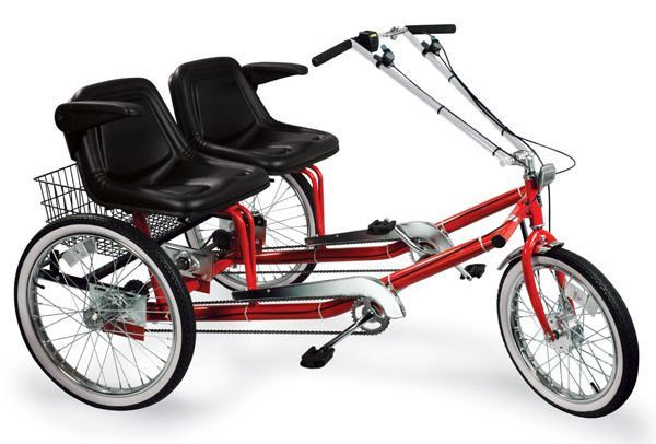 Cool dual seat adult tricycle for a romantic ride all fun site