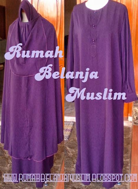 Model Gamis Muslimah Ungu Violet