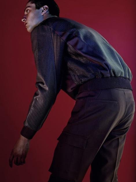 Matthew Bell wearing Calvin Klein AW13