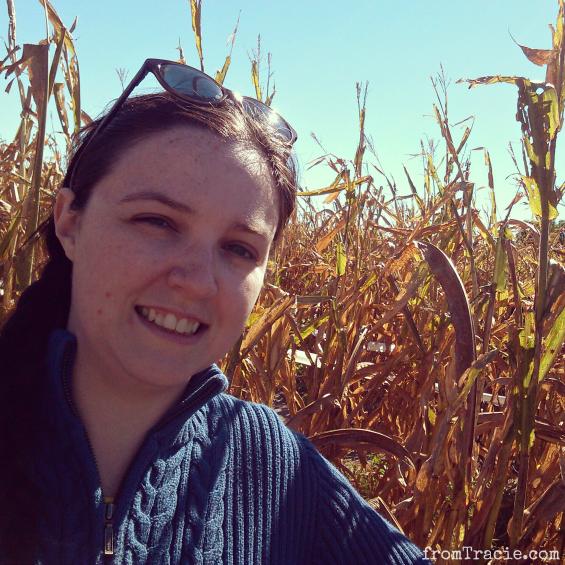 Tracie and corn