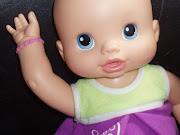 This is Baby Alive. She is my dolly. I got her for Christmas.