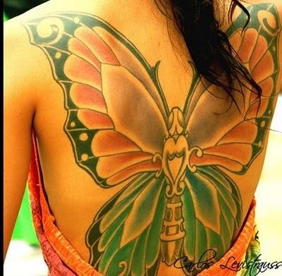 Fotos de Tatuagens de Borboletas Femininas