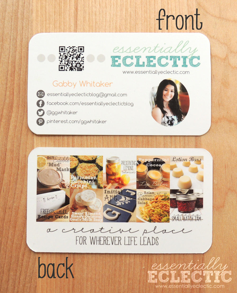 How to design custom business cards for your blog if youre thinking of turning your blog into a business youll reheart