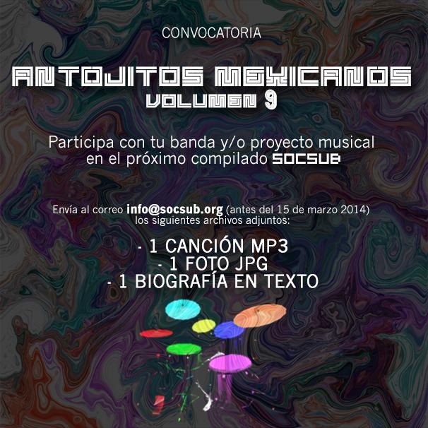 "Convocatoria musical para formar el compilado ""Antojitos Mexicanos"" vol. 9"