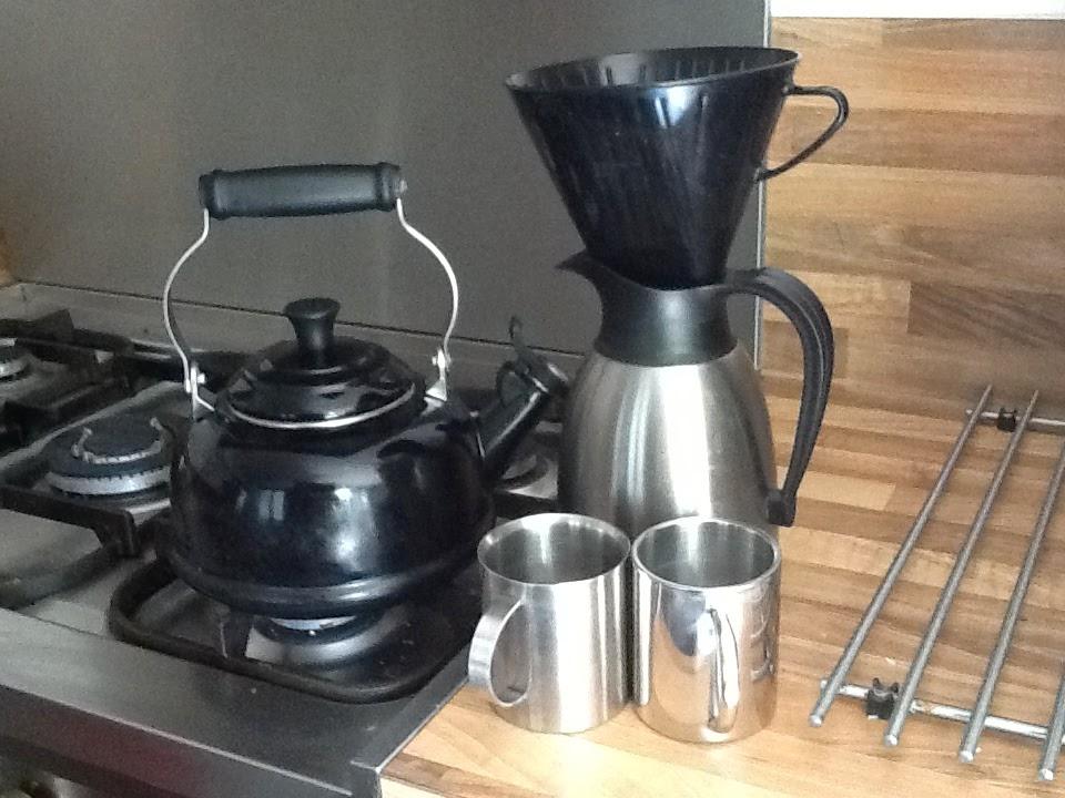 koffie zetten met fluitketel