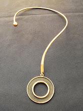 Collar cobre, colgante envejecido (219)
