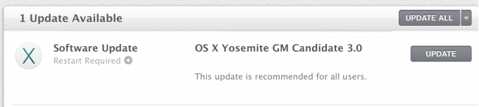 OS X 10.10 Yosemite GM Candidate 3.0 Build-14A388a