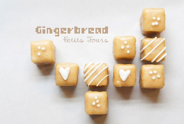 Sugary & Buttery - Gingerbread Petits Fours