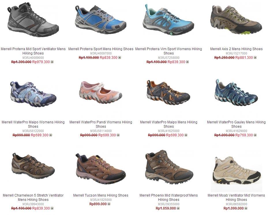 Daftar Harga Sepatu Merrel Original Terbaru 2016