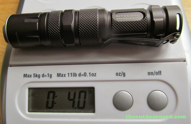 Nitecore SRT3 Defender EDC Flashlight: On Scale With AA Extender