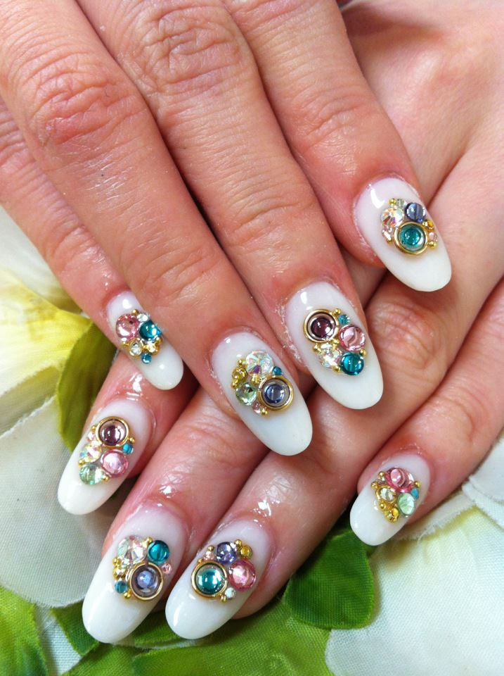 cute acrylic nail designs - photo #4
