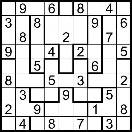 This is a photo of Massif Irregular Sudoku Printable