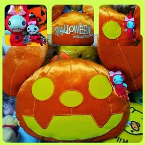 2009 HKDL HALLOWEEN PUMPKIN CUSHION SCRUMP