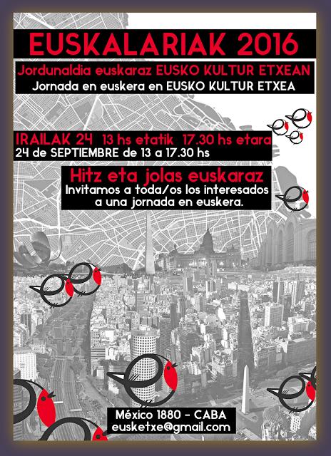 JORNADA EN EUSKERA -EUSKO KULTUR ETXEA -  JORDUNALDIA EUSKARAZ