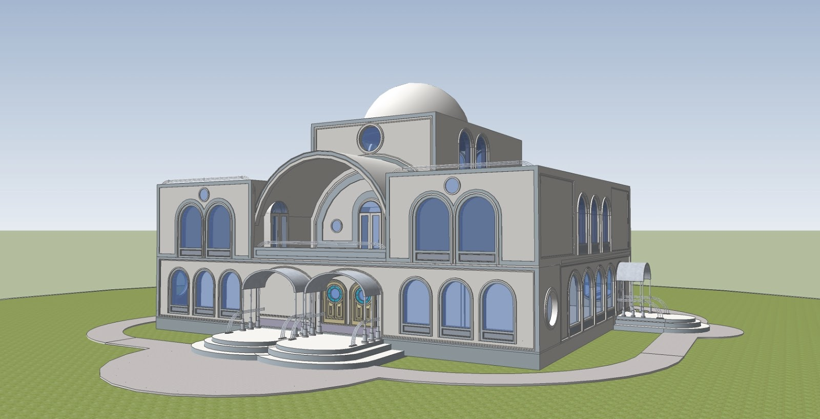 Sketchup by dawn april 2013 for Modern house sketchup