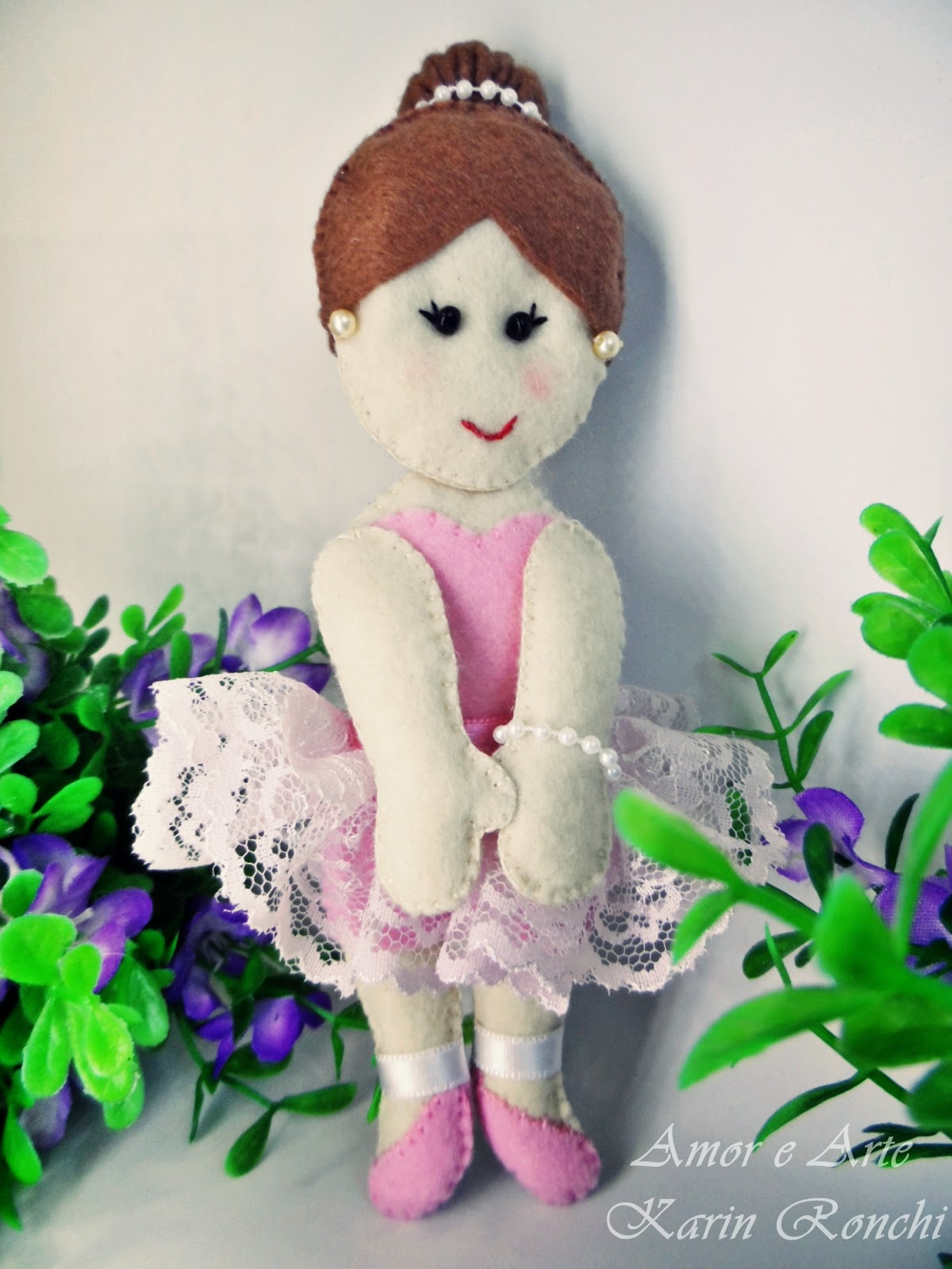 Bailarina enfeite de porta