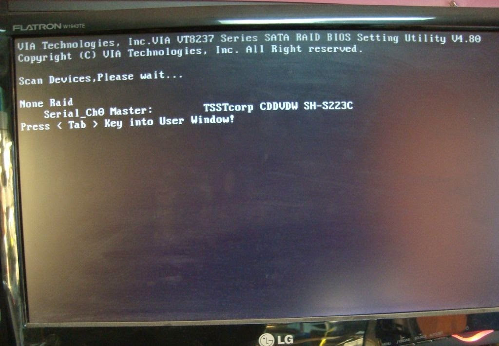 ERROR THE BIOS DOES NOT BE INSTALLED SOLUCION